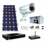 Solar Video Surveillance Power Kit