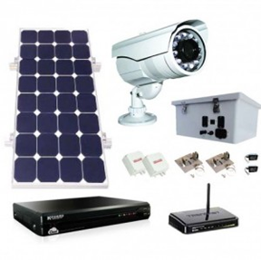 Solar Security Camera Power System